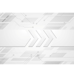 Tech grey abstract background with big arrows vector