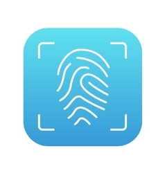 Fingerprint scanning line icon vector