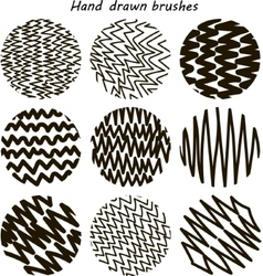 Zigzag paint brush set vector