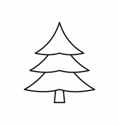 Fir tree icon outline style vector