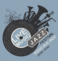 banner for jazz festival live music vector image vector image