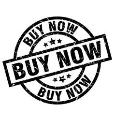 Buy now round grunge black stamp vector