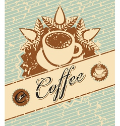 coffee retro vector image
