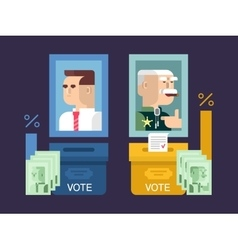 Concept elections design flat vector image