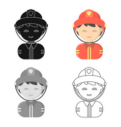 Fireman cartoon icon for web and vector