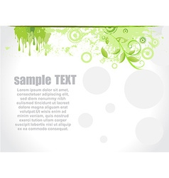 Floral green background vector image vector image