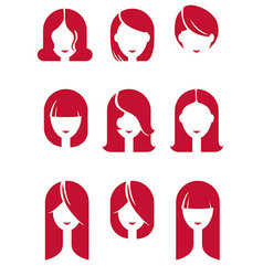 girl hairs vector image vector image