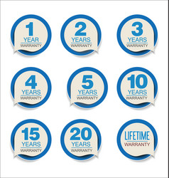 guarantee stickers blue design collection vector image