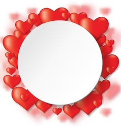 heart backg round vector image vector image