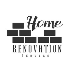 Home repair and renovation service black and white vector