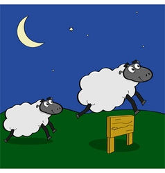 Jumping sheep vector