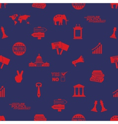 Politics red and blue icons seamless pattern eps10 vector
