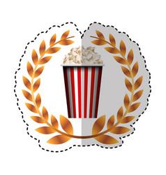 Pop corn isolated icon vector