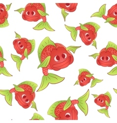 Red fish seamless vector