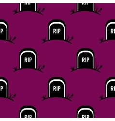 Seamless Pattern Halloween Tomb vector image vector image