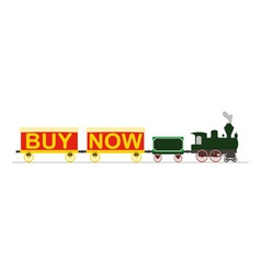 Steam locomotive buy now vector