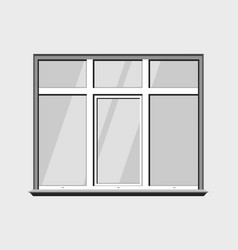 window classic plastic glass construction build vector image vector image