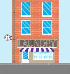 Laundry brick building vector