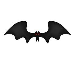 Bat on white background red frightening eyes vector