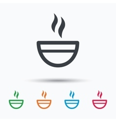Tea cup icon hot coffee drink sign vector