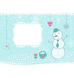 Winter hand drawn poster vector image
