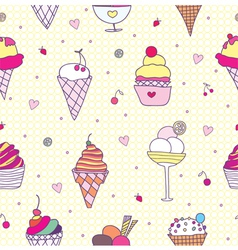pattern ice cream vector image
