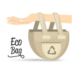 Eco bag products for planet conservation vector