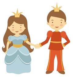 Prince and princess vector