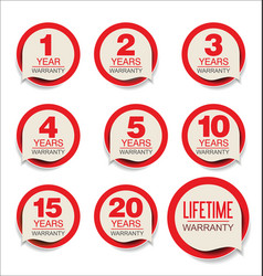 Guarantee stickers red design collection vector