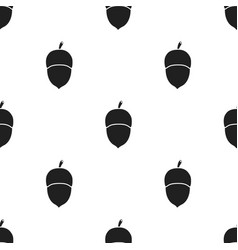Acorn icon in black style for web vector