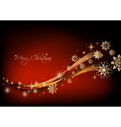 Gold snowflakes christmas background vector