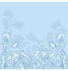 floral background blue vector image