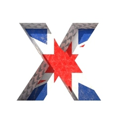 Great britain cutted figure x paste to any vector