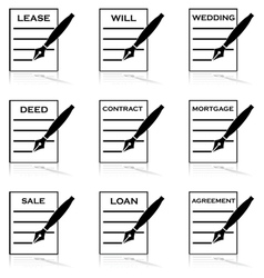 Contracts vector image