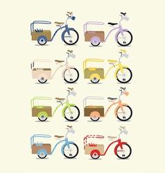 Vintage bicycle set vector