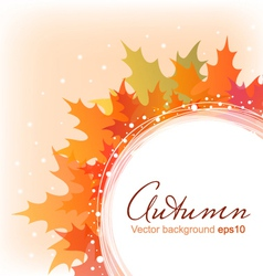 Abstract autumn leaves background eps10 vector