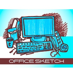 Office sketch vector