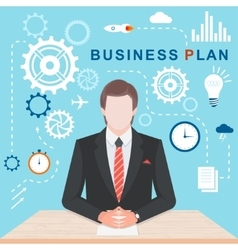 Flat illlustration business plan vector