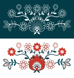 Folk design with flower-2 vector