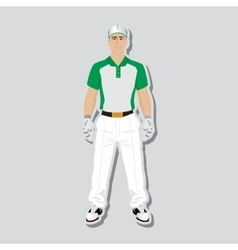 Golf player wear vector