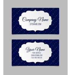 Business card template with stars vector