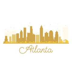 Atlanta City skyline golden silhouette vector image