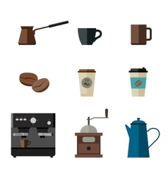 Coffee flat icons vector