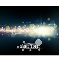 abstract million fireflies dark blue bokeh vector image