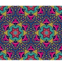 Abstract star motif seamless pattern vector