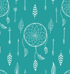 arrow background retro pattern etnic doodle vector image