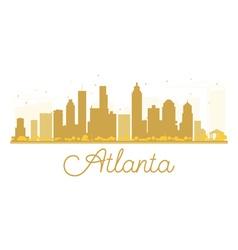 Atlanta city skyline golden silhouette vector