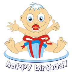 baby birthday vector image vector image
