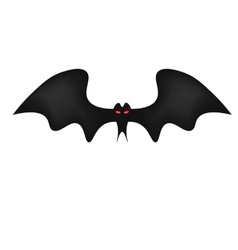 Bat on white background red frightening eyes vector image vector image