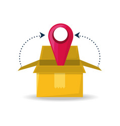 Box package service with ubication to search vector